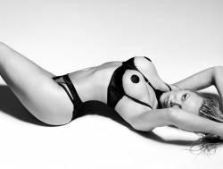Pamela Anderson bondage photoshoot for lingerie line Coco de Mer 16x UHQ photos