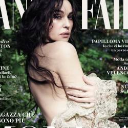 Monica Bellucci braless in see through dress for Vanity Fair magazine May 2017 12x HQ photos