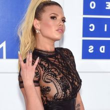 Chanel West Coast braless in see through dress on 2016 MTV Video Music Awards in NY HQ photos