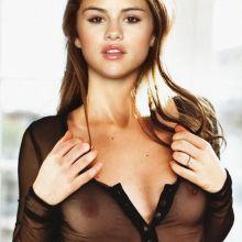 Selena Gomez braless pantyless in see through dress for Vogue magazine UHQ photo