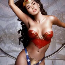 Gal Gadot body paint topless nude naked Wonder Woman leaked Posters and Promo shots 8x HQ photos