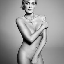 Sharon Stone nude Harper's Bazaar magazine 2015 September issue 3x HQ