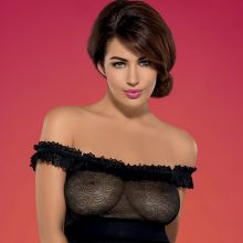 Holly Peers topless see through Obsessive lingerie 2016 January 29x HQ photos
