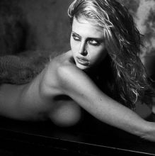 Estella Warren topless nude see through by Jeff Olson photo shoot 13x HQ photos