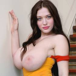 Kat Dennings topless