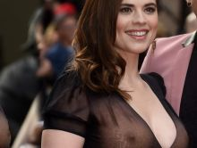 Hayley Atwell see through dress in Jameson Empire Awards 2015 66x HQ