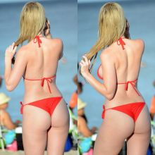 Rachel Sanders wearing sexy bikini on the beach in Miami 2015 October 14x UHQ