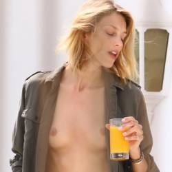 Anja Rubik topless in Cannes 22x HQ photos
