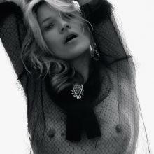 Kate Moss see through blouse for Love Magazine 2015 Fall Winter 8x HQ