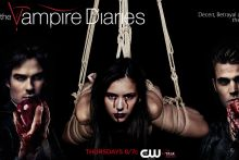 Nina Dobrev nude bondage on The Vampire Diaries poster UHQ
