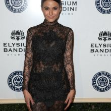 Emmanuelle Chriqui braless in see through dress on The Art of Elysium presents Stevie Wonder's HEAVEN 9x UHQ photos