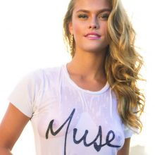 Nina Agdal see through top in Sunaj Lookbook 2015 Spring Summer 23x HQ