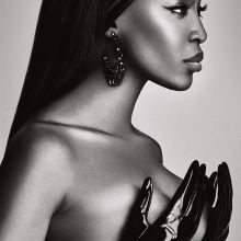Naomi Campbell nude topless photo shoot for Lui Magazine 2015 October 9x HQ