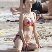 Alessandra Ambrosio sexy bikini candids on the beach in Ibiza 21x HQ photos