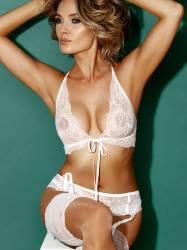 Asta Valentaite see through lingerie