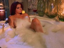 Ariel Winter relaxing nude in a bathtub on set of Dog Years Instagram HQ photo