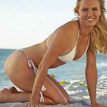 Caroline Wozniacki nude topless bodypaint see through Sports Illustrated sexy Swimsuit 2015 photo shoot 26x HQ