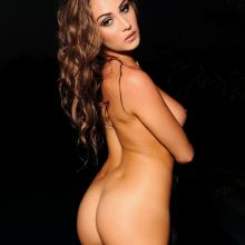 Chloe Goodman raunchy naked in black bodysuit and stockings photo shoot 38x UHQ