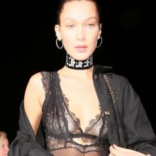 Bella Hadid braless in see through top candids outside Catch in West Hollywood 10x HQ photos