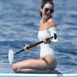 Kendall Jenner sexy swimsuit leggy candids on the yacht in Cannes 39x MixQ photos