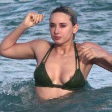 Julz Goddard bikini nip slip on the beach in Miami 51x HQ