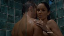 Sarah Wayne Callies - Colony S02 E04 720p undressing topless bathing scene