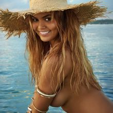 Chrissy Teigen nude naked topless bodypaint see through Sports Illustrated sexy Swimsuit 2016 photo shoot 36x HQ