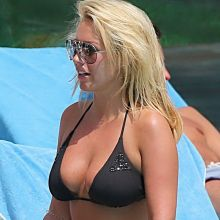 Kate Wright sexy bikini candids pooside in Magaluf While 26x HQ photos
