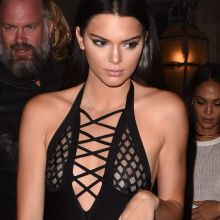 Kendall Jenner see through top without bra at The Reserve restaurant in Paris 60x HQ