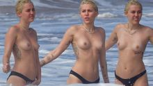 Miley Cyrus topless on the beach in Hawaii 76x UHQ