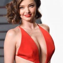 Miranda Kerr sexy cleavage on 2016 Vanity Fair Oscar Party 56x UHQ photos