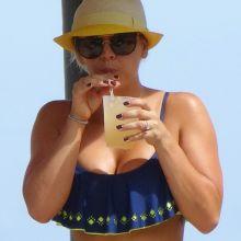 Kaley Cuoco wearing sexy bikini at a pool in Mexico 11x HQ