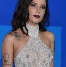 Halsey braless in see through bodysuit on 2016 MTV Video Music Awards in NY 40x HQ photos