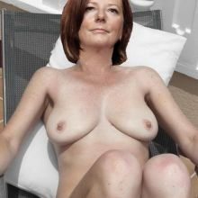 Julia Gillard topless sunbathing HQ