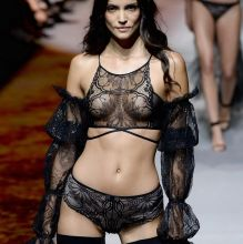 Sofia Resing sexy lingerie Etam Fashion Show 2016 during Paris Fashion Week 6x HQ photos