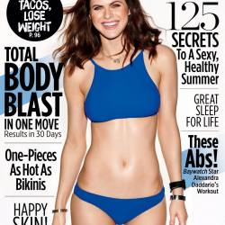 Alexandra Daddario sexy swimsuit on Women's Health magazine June 2017 6x HQ photos