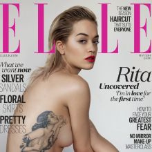 Rita Ora topless Elle magazine cover 2014 May UHQ