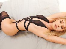 Sara Jean Underwood in see through black lingerie uncensored Instagram photos 4x HQ