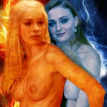 Emilia Clarke, Sophie Turner nude A Song of Ice and Fire - Game of Thrones poster HQ
