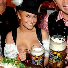 Hayden Panettiere downblouse nip slip boobs slip on Oktoberfest HQ