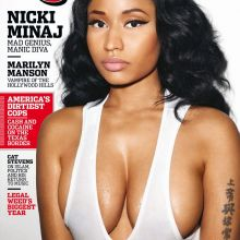 Nicki Minaj big boobs on Rolling Stone magazine 2015 January cover 3x UHQ