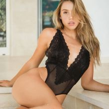 Alexis Ren sexy booty see through Missguided lingerie photo shoot 11x MixQ photos