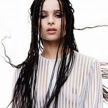 Zoe Kravitz see throug braless for C Magazine 2015 October 4x HQ