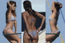 Nicole Scherzinger wearing sexy bikini on a boat in Ibiza 39x UHQ