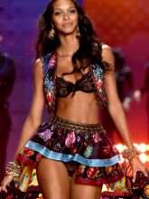 Lais Ribeiro sexy 2014 Victoria's Secret Fashion Show in London 6x UHQ