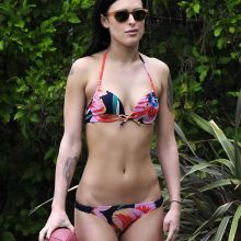 Rumer Willis wearing sexy bikini in a candid photo shoot at a house in Beverly Hills 22x UHQ