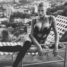 Charlotte Mckinney cleavage topless GQ UK magazine 2015 December 6x HQ scans