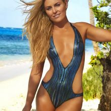 Lindsey Vonn nude naked topless bodypaint see through Sports Illustrated sexy Swimsuit 2016 photo shoot 16x HQ