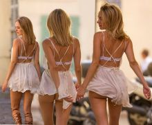 Kimberley Garner upskirt booty out shopping in St Tropez, France 28x HQ photos