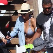 Charlotte Mckinney big boobs in tiny bikini candids on the beach in Malibu 30x HQ photos